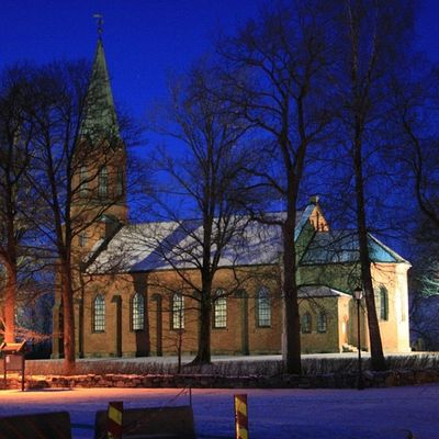 Ilovenorway Ilovenorway_akershus Follo   ås åskirke ig_week ig_week_winter ig_world ig_norway worldunion wu_norway winter frost evening kirke church _flutherbug_