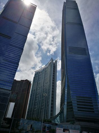Skyscraper Modern Architecture City Low Angle View Tall - High Building Exterior