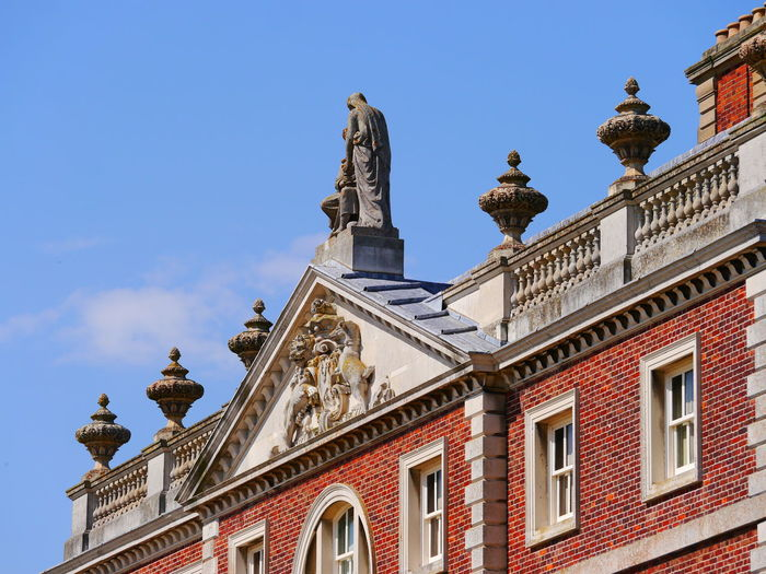 Architecture Building Exterior Built Structure Cambridge, United Kingdom City Clear Sky Day Low Angle View National Trust National Trust 🇬🇧 No People Outdoors Sculpture Sky Statue Travel Destinations Wimpole Hall,