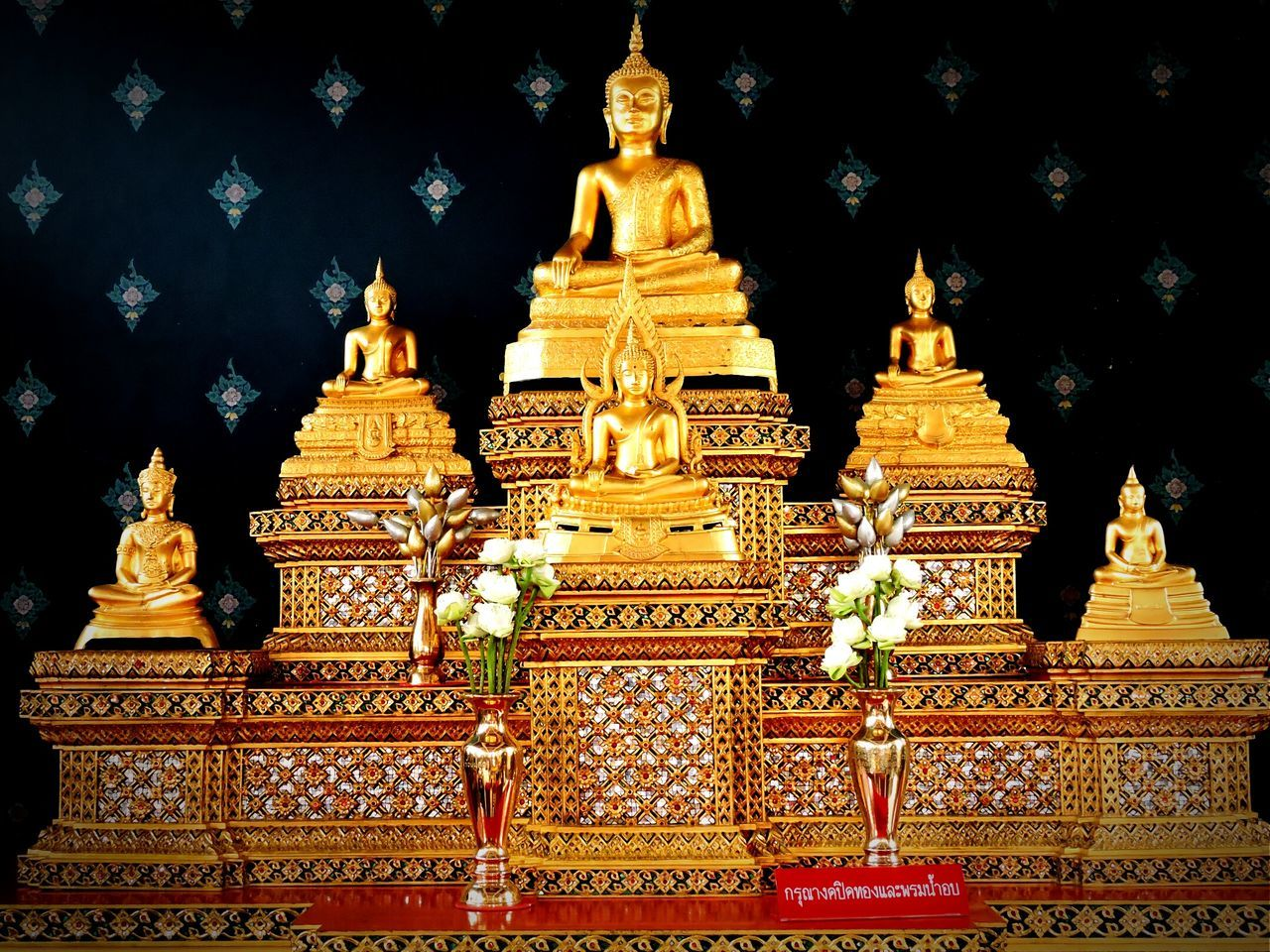 religion, gold colored, place of worship, spirituality, statue, ornate, gold, architecture, no people, sculpture, golden color, outdoors, day, sky