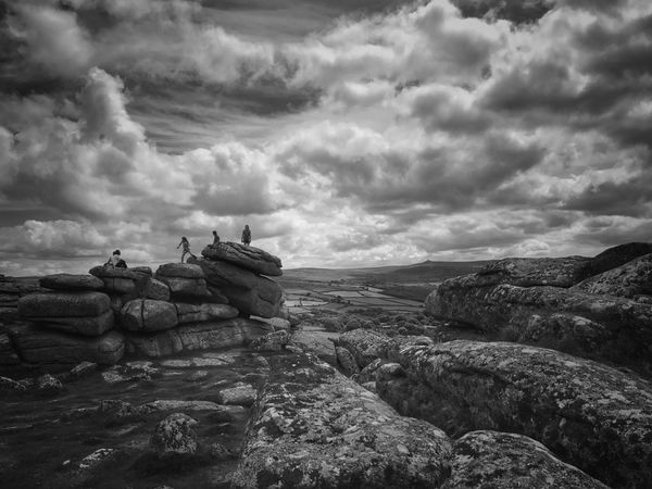 Dartmoor Sky Nature Rock - Object Landscape Outdoors Blackandwhite Exploring Tadaa Community IPhone Photography Wandering Countryside Beauty In Nature Tranquil Scene Scenics