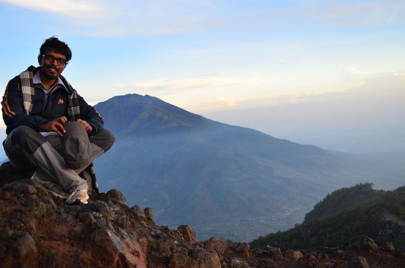 On top of Mount Merapi That's Me Mount Merapi Merapi Volcano Trekking Jogjakarta Jogja Yogyakarta INDONESIA