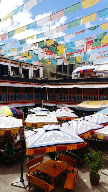 Tibet Lhasa Jokhang Temple 201708 History Renew Building Retail  Business Finance And Industry Supermarket