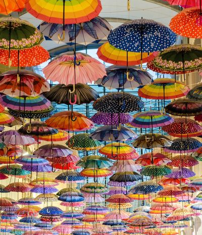 Abundance Choice Close-up Day Dubai Mall For Sale Hanging Lantern Large Group Of Objects Low Angle View Market Multi Colored No People Outdoors Retail  Umbrella Variation