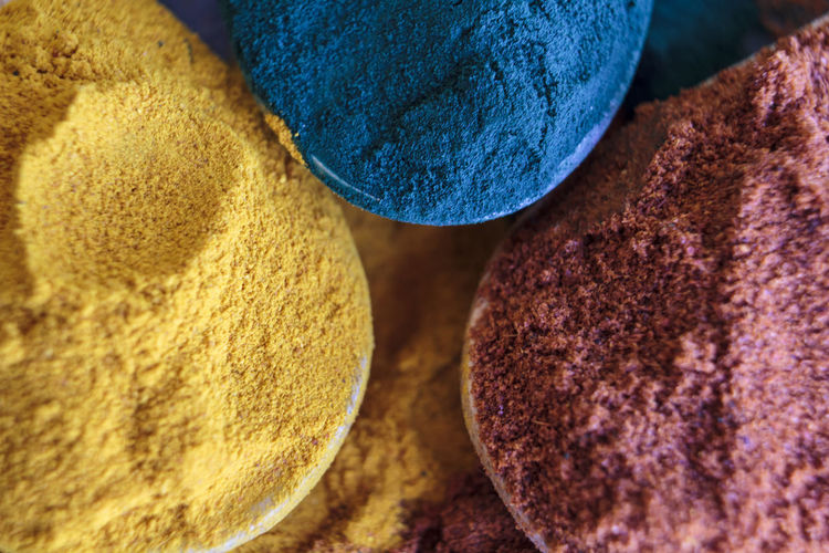 Full frame shot of colorful spices