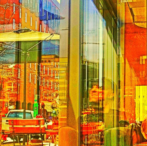 Mobile Conversations My City Dc Color Building Exterior Indoors  Growth Built Structure Colorsplash Redplanet Red.digital Tyypsilon Outdoors Multi Colored The City Light Architecture Sky I Wonder Who Is Looking?! View With A View Skyscraper Celebration Arms Raised Happiness