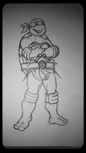 late night Sketching Teenage Mutant Ninja Turtles