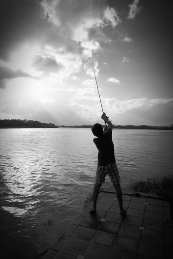 Nicaragua One Person Fishing Water Nature Outdoors Sky Rio San Juan Casa Del Rio Live For The Story The Great Outdoors - 2017 EyeEm Awards The Portraitist - 2017 EyeEm Awards Be. Ready.