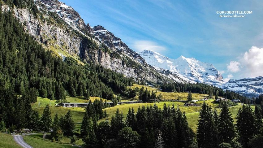 A sunny mountain view! Switzerland Mountains WeatherPro: Your Perfect Weather Shot Landscape_Collection