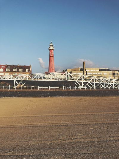 Scheveningen. Built Structure Architecture Sky Building Exterior Nature Clear Sky Tower Land Building Day Beach Sunlight Copy Space Water Lighthouse Protection Outdoors