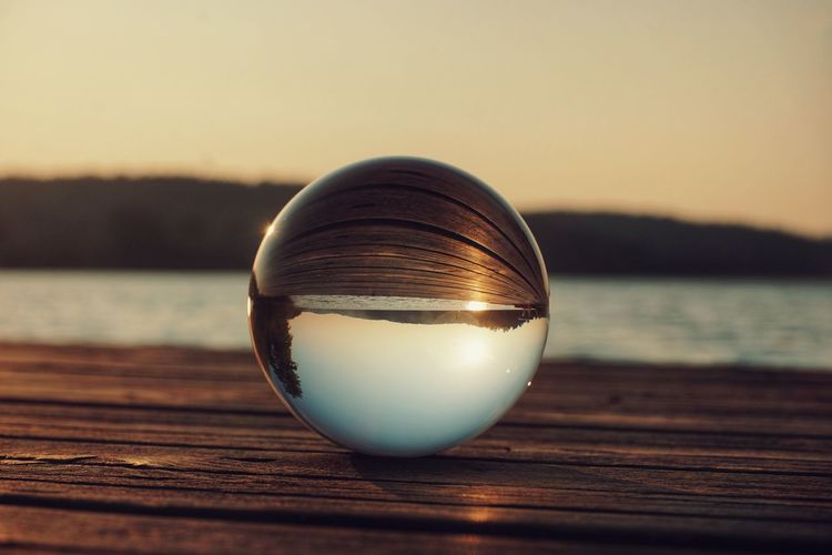 2019 Niklas Storm Juni Water Sunset Backgrounds Reflection Alcohol Sphere Close-up Sky Crystal Ball Crystal Crystal Glassware My Best Photo The Great Outdoors - 2019 EyeEm Awards
