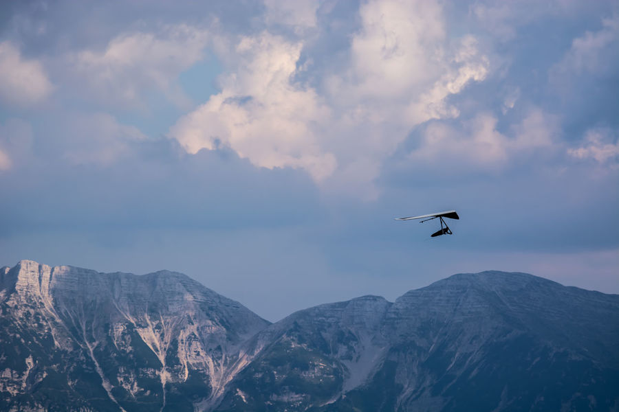 Trentino  Trentino Alto Adige Air Vehicle Airplane Animal Themes Animals In The Wild Beauty In Nature Bird Cloud - Sky Day Flying Low Angle View Mid-air Mountain Mountain Range Nature No People Outdoors Scenics Sky Spread Wings Trentinodavivere