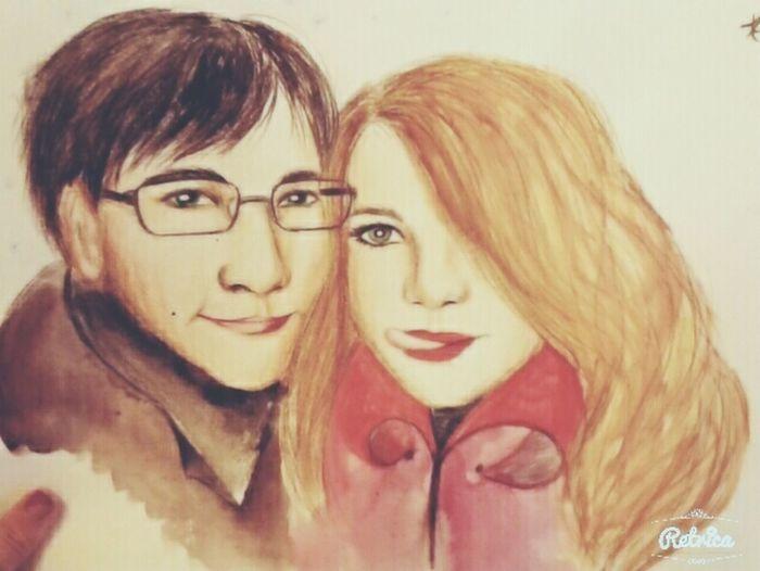 Drawing Art Cute, Love Him Portrait