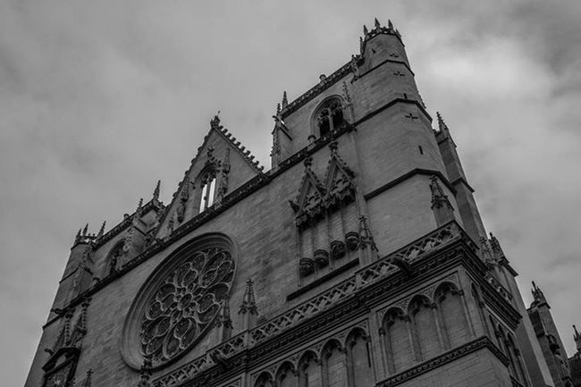 Blackandwhite Cathedrale St Jean IPhoneography Onlylyon