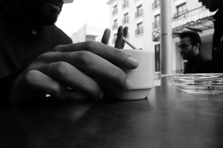 Good morning #Tunis with a coffee and a cigarette. Leica D-Lux Leicacamera Tunis Tunisia Human Hand City Politics And Government Close-up Smoking Issues Cigarette Butt Smoking Cigarette  Smoking - Activity