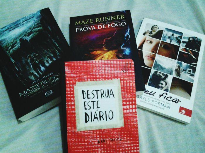 chegaram *---* Books Maze Runner İf I Stay Destruaestediario ♡