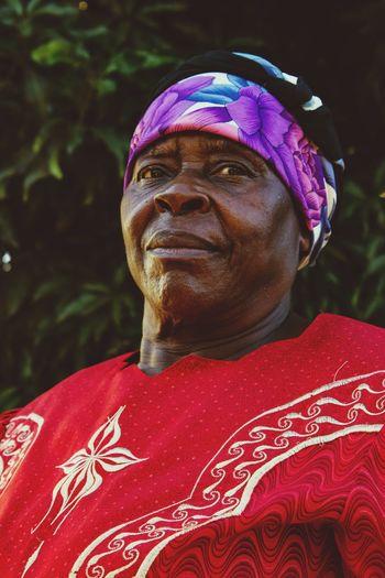Close-Up Portrait Of Senior Man Wearing Bandana