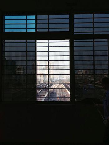 Windows Window View Train Station Worker