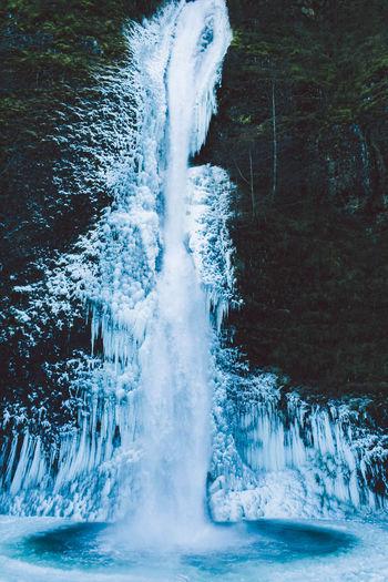 Waterfall in sea