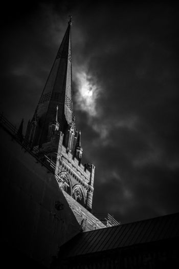 Built Structure Architecture Low Angle View Building Exterior Sky Tower Building Belief Place Of Worship Religion Nature Cloud - Sky Spirituality Travel Destinations No People Night Tall - High Spire  Clock Gothic Style