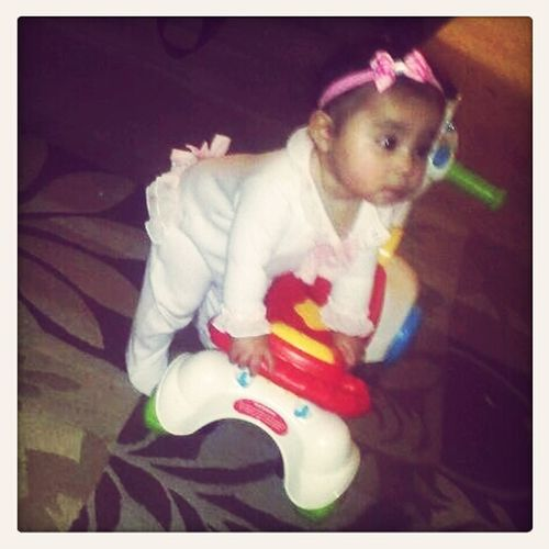 Baby Girl Trying To Ride Her Phony (: