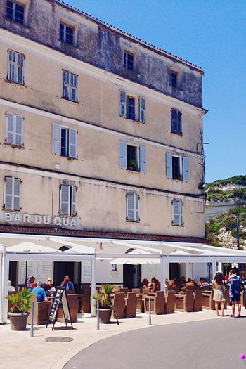 Corsica Bar Porto Mediterranean  Architecturelovers Old Buildings Enjoying Life Summer Blue Sky