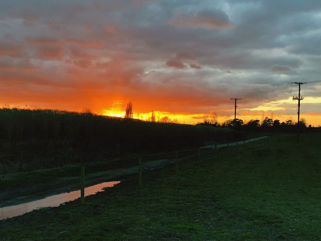 The dying light Sunset Sky Nature Beauty In Nature Cloud - Sky Tranquil Scene Scenics Dramatic Sky Orange Color