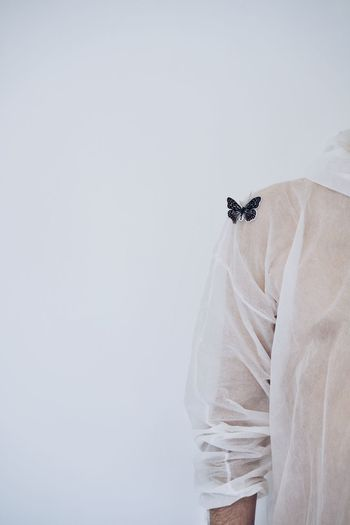 Butterfly Minimalism Arm Human Arm One Person Human Body Part Human Hand Hand Costume People Coathanger Butterfly - Insect Studio Shot Insect Close-up Collar Clothesline Fabric Clothes Textile The Still Life Photographer - 2018 EyeEm Awards The Creative - 2018 EyeEm Awards The Fashion Photographer - 2018 EyeEm Awards