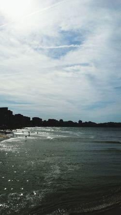 Beautiful Day Beach Gijón Mar Cantabrico Playasdeasturias Playadesanlorenzo Enjoying Life España Asturias