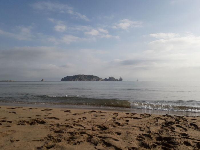 Girona Catalunya Catalonia Estartit Torroella De Montgri Mediterranean  Mediterranean Sea Water Sea Beach Sand Sand Dune Low Tide Awe Sun Seascape Coastline Wave Calm Coast