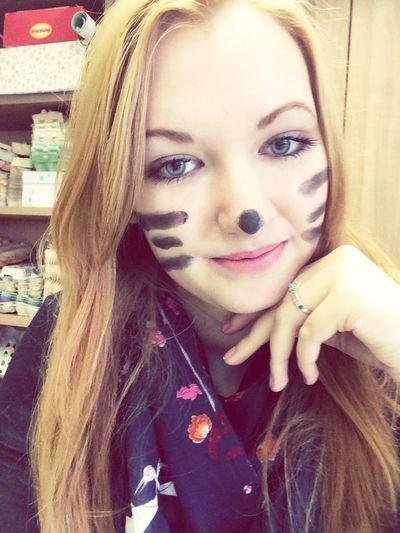 Selfi Rosenmontag Katze Sweet Follow Girl Like Schule Exemplar
