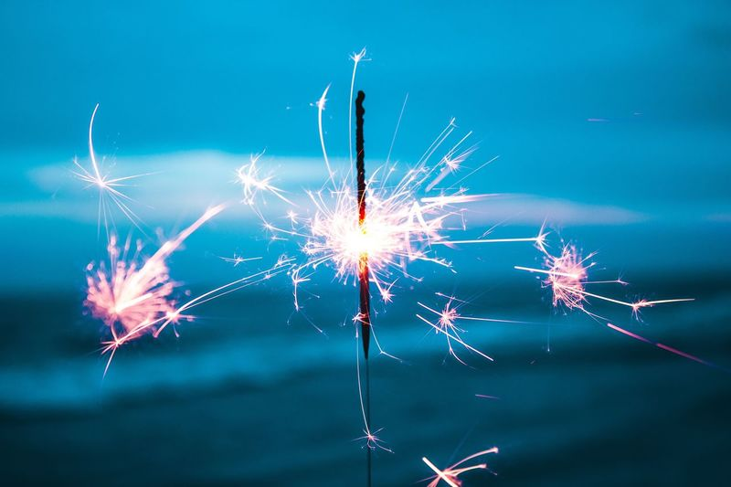Be the sparkler in the moment Celebration Long Exposure Firework - Man Made Object Firework Display Motion Arts Culture And Entertainment Sparkler Exploding Burning No People Multi Colored Outdoors Illuminated Sky Firework Event Night Close-up Clear Sky Fresh On Market 2017
