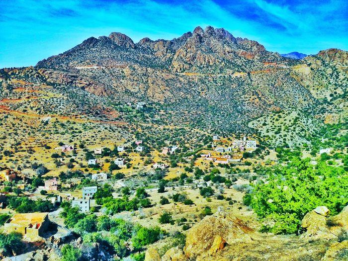 Tafraout Tanalt Assaka Tranquility Tranquil Scene Nature Mountain Outdoors Landscape Sunshine