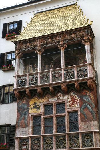 Austria City Golden Goldenes Dachl Innsbruck Roof Sightseeing Square Travel Attraction Europe Heritage History Landmark Symbol Tourism