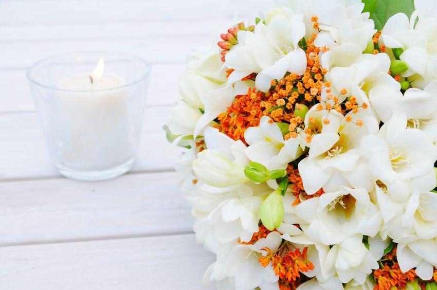 Wedding Flowers Flowers On Table Candle White Wedding Photos EyeEm Best Shots Flowers Detail Bouquet Flower Porn Wedding Day Wedding Wedding Photography