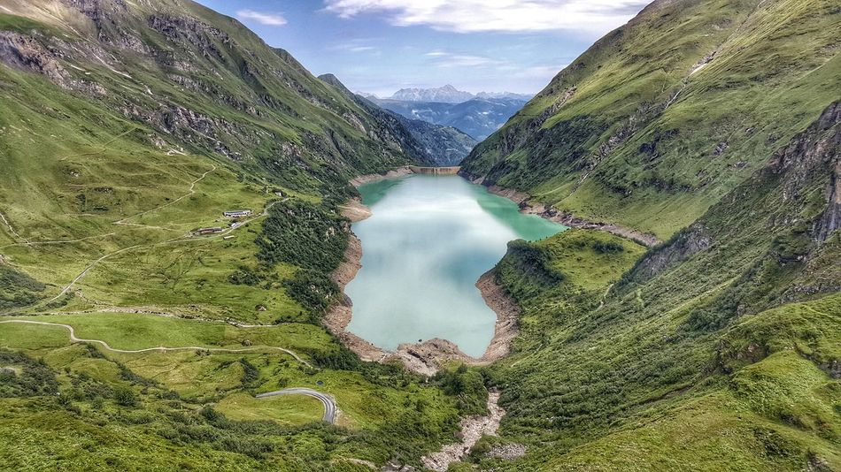Water Nature Scenics Reflection Mountain Stausee Staudamm