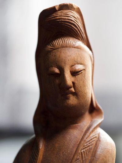 Close-up of statue of buddha