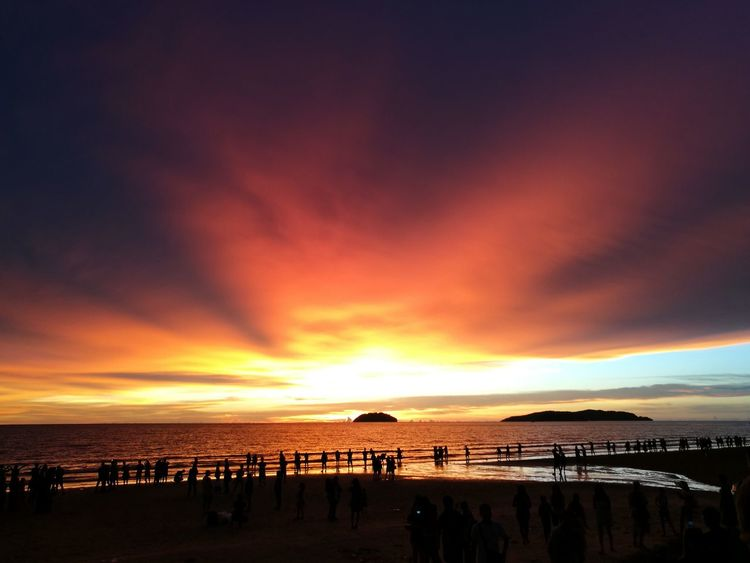 Mix Yourself A Good Time Borneo Multicolored Sky Scenery Shots Sunset Beauty In Nature Beach Water Sea Nature