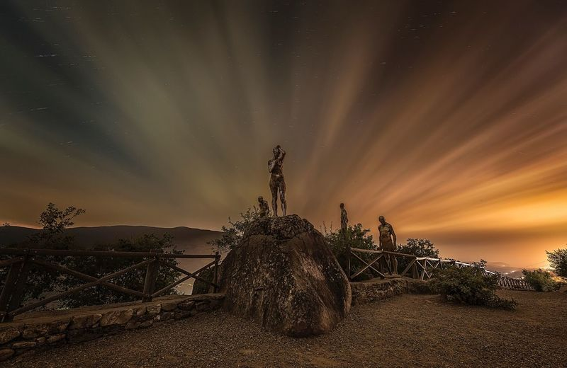 Long Exposure Statue Sky Night Beauty In Nature Sculpture Cloud - Sky Tranquility Outdoors No People Travel Destinations Scenics The Great Outdoors - 2018 EyeEm Awards My Best Photo
