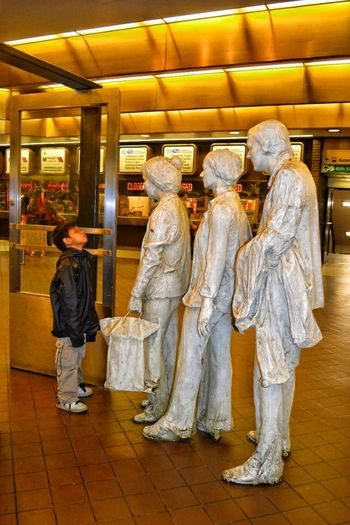 Port Authority Port Authority NYC NYC Photography Nyclife Statues Queue Stunned Portrait Of America Looking Into The Future