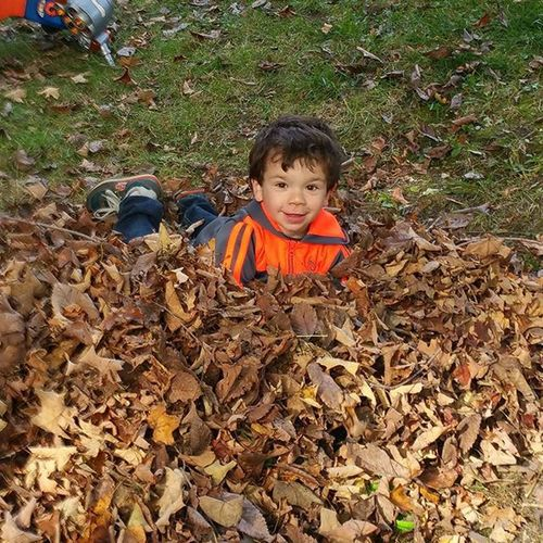Latergram . Yesterday leaf fun. I absolutely love this time of year. Lovethiskid