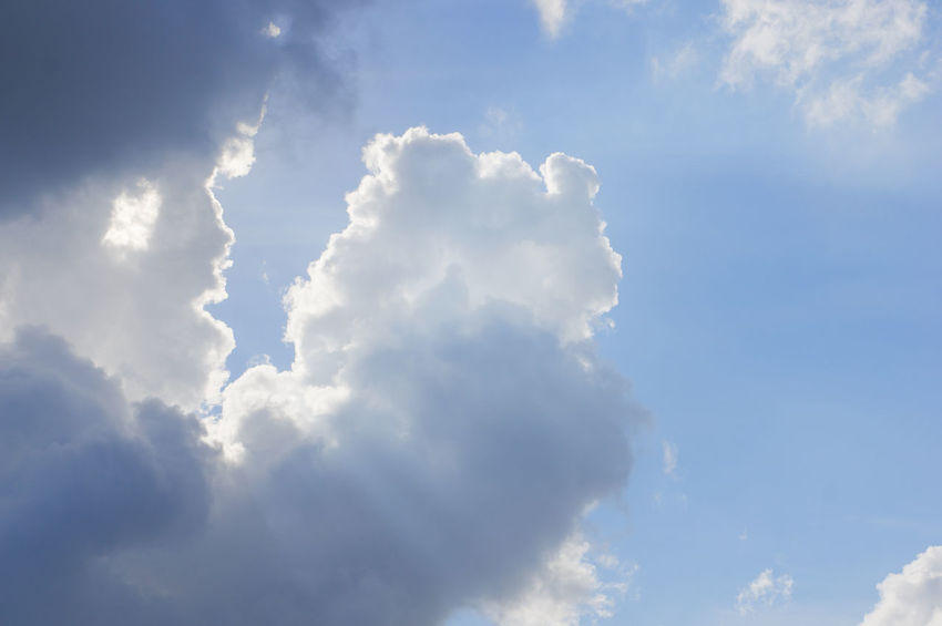 White cloud like mother carrying her child on blue sky as a background. Atmosphere Beautiful Cloud Heaven High Peace Scenic Weather Air Background Blue Climate Cloudscape Cumulus Day Daylight Meteorology Moisture Nature Nebulosity Outdoor Season  Sky Tranquility White