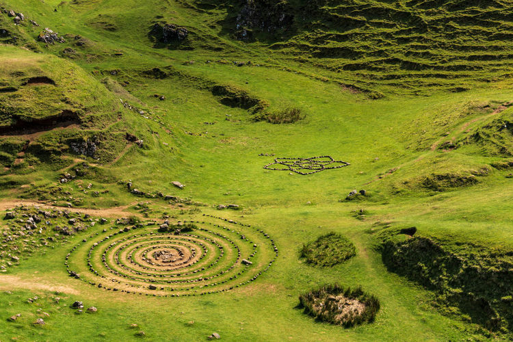 Ancient Circle Shapes Agriculture Beauty In Nature Day Environment Field Grass Green Color Growth High Angle View Land Landscape Nature No People Outdoors Plant Rural Scene Scenics - Nature Stones Terraced Field Tranquil Scene Tranquility Tree The Great Outdoors - 2018 EyeEm Awards The Great Outdoors - 2018 EyeEm Awards The Traveler - 2018 EyeEm Awards