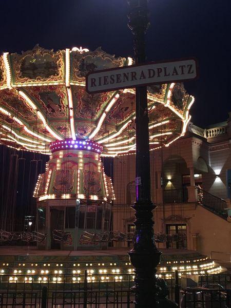 Night Architecture Amusement Park Amusement Park Ride No People Outdoors Vienna Wien City Travel Destinations