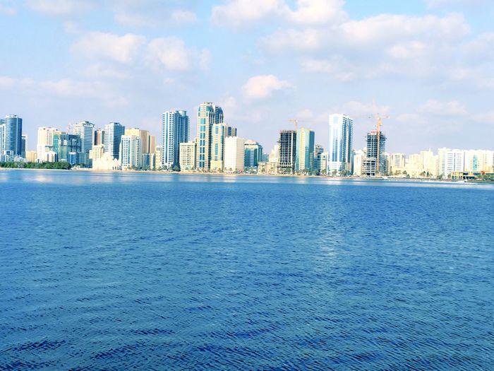 City Life Sharjah Uae Jordan❤ Office Building Sea Side Beachside Arabic Culture Skyscraper Built Structure Architecture Nature_collection Water