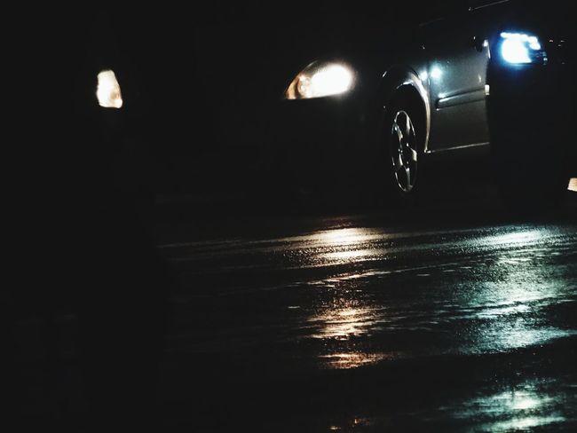 Car Road Light Headlights асфальт Ночь автомобиль фары Дорога
