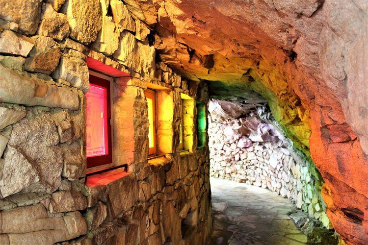 Architecture Building Exterior Built Structure Cave Chattanooga Tennessee Geology Lookout Mountain Multi Colored No People Rainbow Vacations