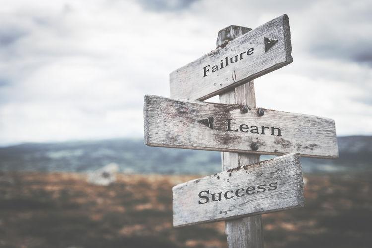 Failure, learn,