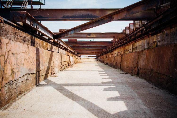 Passage at shipyard