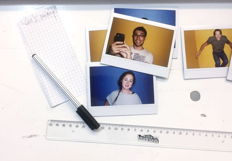 Photograph Smiling Real People Photography Themes People Poloroid Faces Of EyeEm Pen Writing Pad Startup